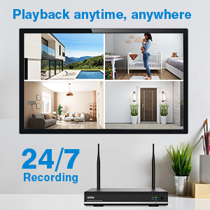 wireless nvr security system