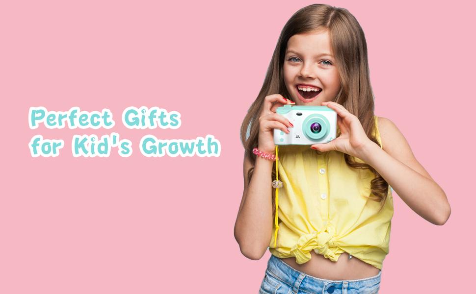 Kinder HD Kinderkamera 1080p Videokamera mit Schlüsselband und USB Kabel (Pink)