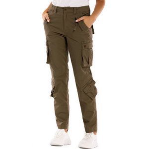 Amazon Com Raroauf Womens Cotton Work Cargo Pants 8 Pockets Baggy Casual Combat Tactical Trousers Not Shrink Clothing