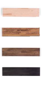 butcher block floating shelves solid wood maple poplar hardwood