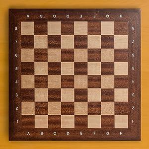 Husaria Professional Staunton Tournament Chess Board, No. 4, 16 Inches