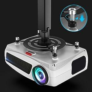 proyector compatible con soporte de techo, videoproyector cine en casa, proyector hd, proyector led