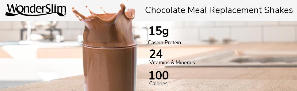 WonderSlim Chocolate Aspartame Free Meal Replacement Shake