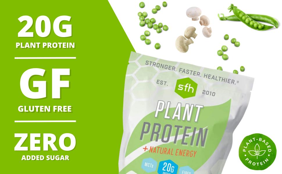 pea mushroom protein, high protein powder plant based, 1lb plant protein