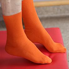 Orange non-binding socks