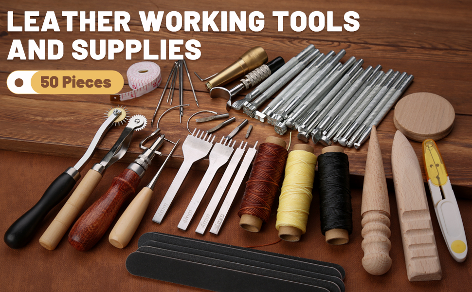 50 Pieces Leather Working Tools