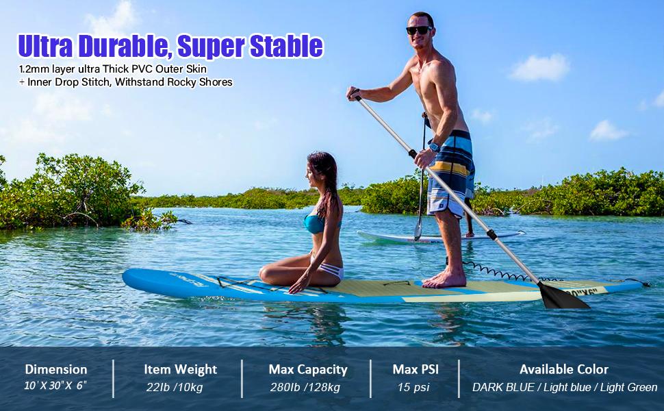 FBSPORT Sup Hinchable, 15cm de Espesor Tabla de Surf Sup ...