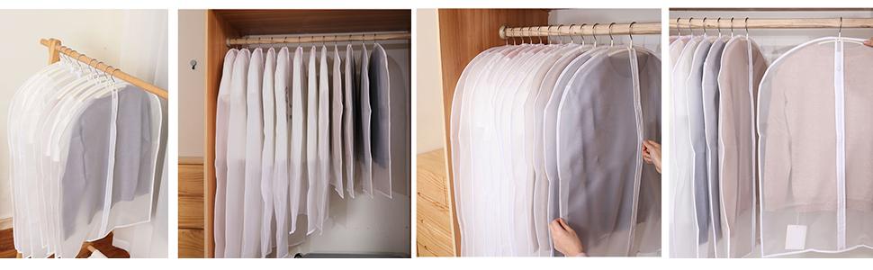 10tlg.Staubdicht Kleidersack Kleiderhülle Schutzhülle Kleider Hülle 100//120*60cm