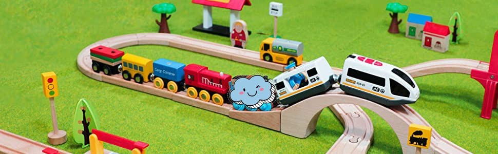 Magnetic Battery Operated Action Train Toy