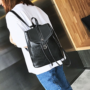 Clearance Sales! ZOMUSAR Women Girl Pure Color School Bag Travel Cute PU Leather Mini Backpack Women Girl Pure Color School Bag Travel Cute PU Leather Mini Backpack Gray