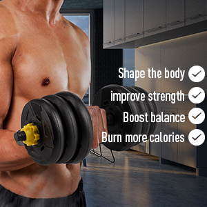 The dumbbell helps you to achieve the goal of perfect body effectively.