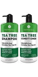 Bellisso Tea Tree Shampoo and Conditioner