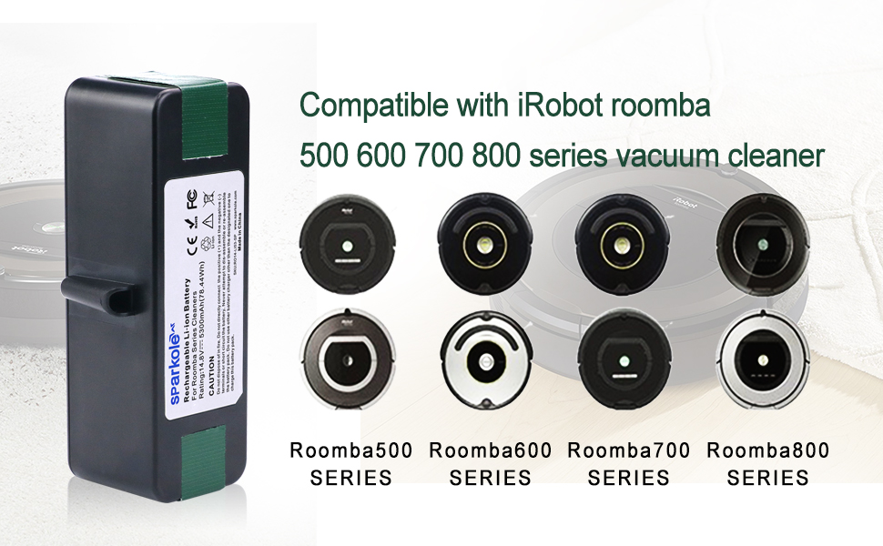 Amazon Com Sparkole 5300mah Extended Life Lithium Ion Battery Compatible With Irobot Roomba 500 600 700 800 Series 675 880 770 650 655 890 895 870 860 805 780 790 695 680 640 645 614 671 595 585 561 560 550 531 Home Kitchen