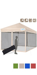 10x10 Pop up Canopy with Netting