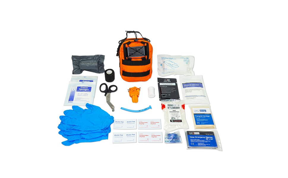 lifeguard trauma survival vest bag stop bleeding rescue emergency empty travel first responders