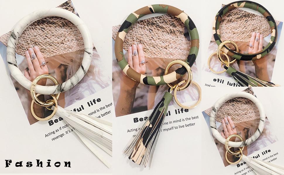 camo bracelet keyring