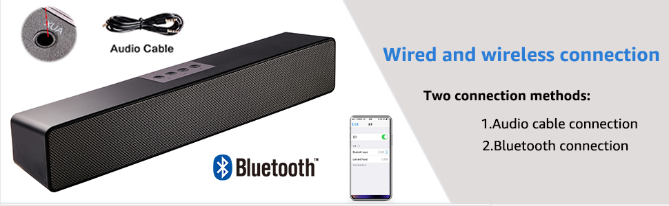 Wired and wireless connection
