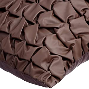 Death By Chocolate Brown Decorative Pillow Sham Covers Pillow Sham Sofa Leather Pillow Case 24x24 Brown Faux Leather Pillow Sham Cover