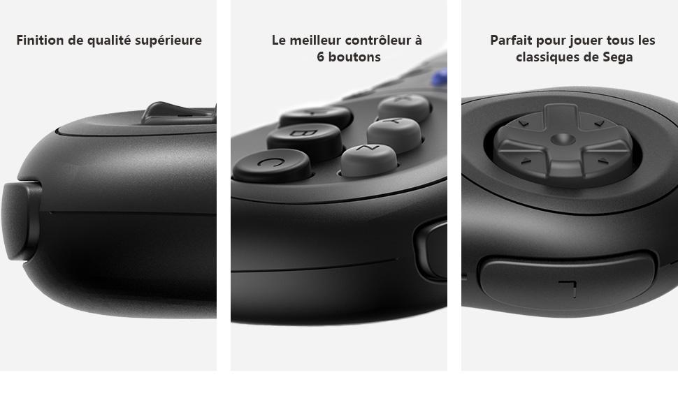 8Bitdo M30 Mini 2.4G Gamepad sans fil pour Sega Genesis Mini et Mega Drive Mini 2