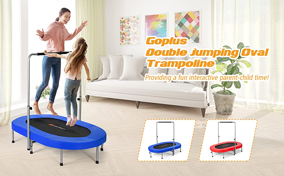 Double Mini Kids Trampoline