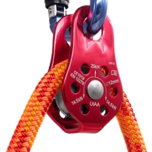Details about  /Lixada 1-2Pcs Climbing 30kN Cable Trolley Pulley with Ball Bearing Rock USA R4L6