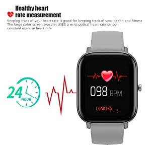 heart rate monitor watch HR fitness tracker smart watch sport watch real-time heart rate continues