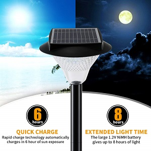 lightPole Pathway Lamp Stake Light Warm White 3000k, Waterproof LandscapeLighting Patio  Yard Deck