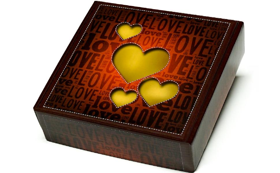 Caja Regalo Original de Corazones, con tres (3) capas de chuches ...
