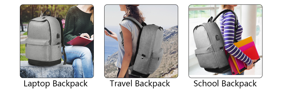 Amazon.com: College Backpack, Travel Laptop School Backpack with ...