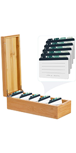600 Business Card Box(For 2.2 x 3.5 Inches Index Cards)