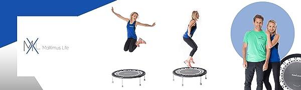 Rebounder mini trampoline maximus fit bouncce pro