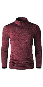 zip up running shirt jogging for men long sleeve dri fit