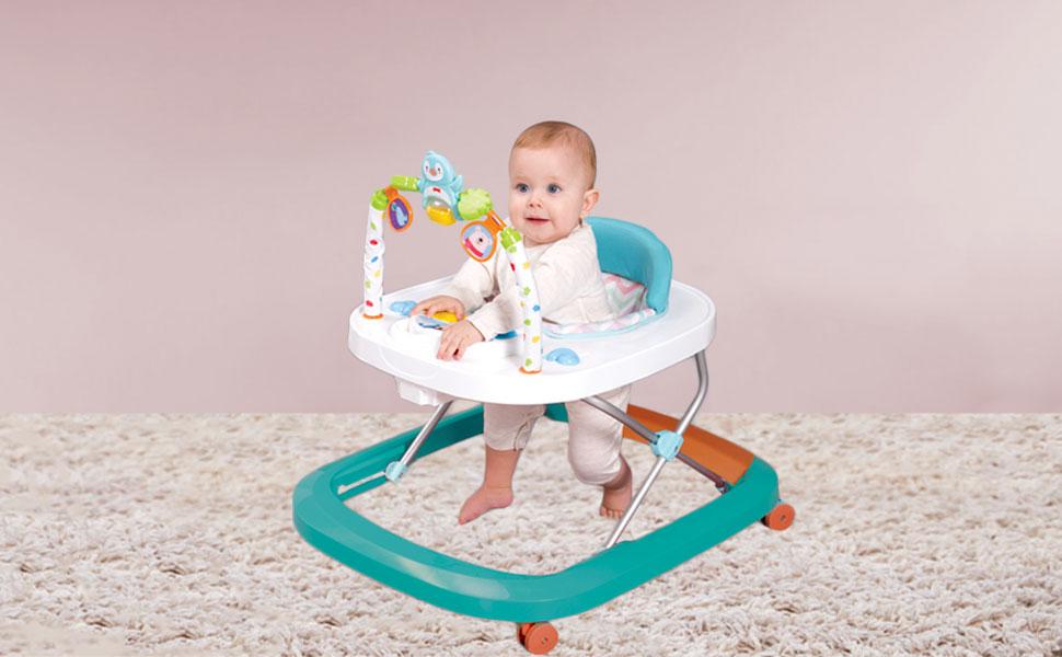 Andador para Bebé Primeros pasos Andador Redondo Multifuncional ...