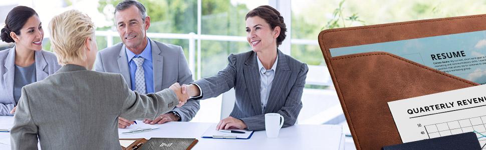 business document holder portfolio padfolio binder professional meeting interview