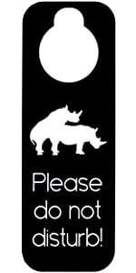 Please Make room door hanger hotel airbnb bed and breakfast door sign do not enter disturb silence