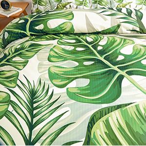 leaves bed set