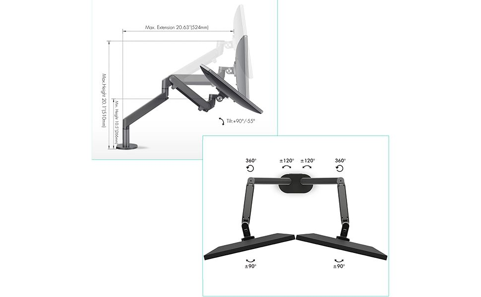 adjustable monitor arm stand
