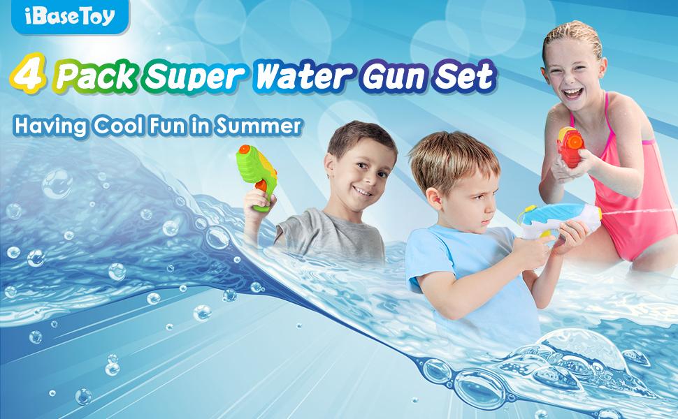 4 pack water guns