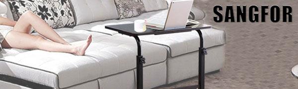Height Adjustable Wooden Laptop Table Computer Standing Desk