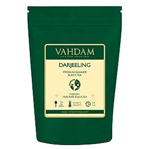 100 gramos t/é negro oto/ñal Darjeeling Ruby DUCHA DE OTO/ÑO VAHDAM | Hojas de t/é ex/óticas de Darjeeling Hojas de t/é negro 100/% PURO T/é negro de la India 50 tazas