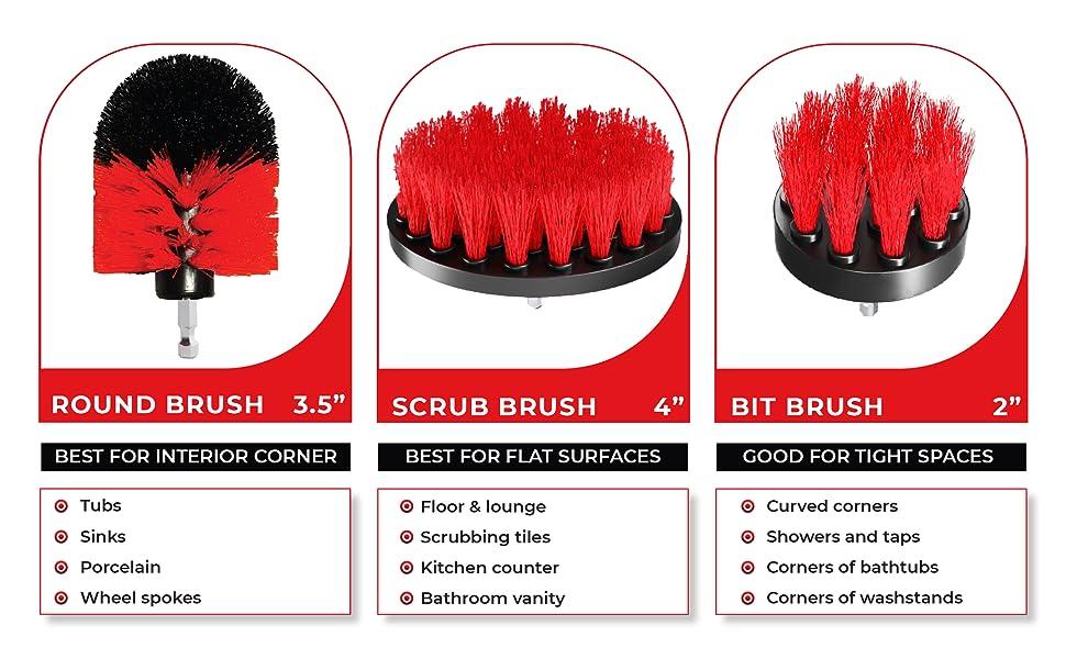scrub brush for drill