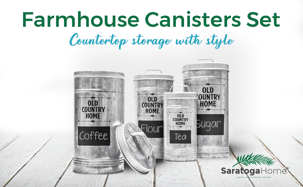 Farmhouse Kitchen Canisters Set by Saratoga Home Hero Image