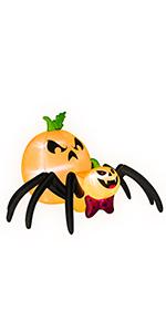 Halloween Inflatable Pumpkin Spider