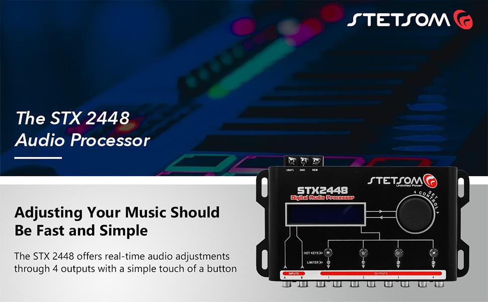 The STX 2448 Audio Processor Sound Fidelity Professional Simple Audio Adjustments