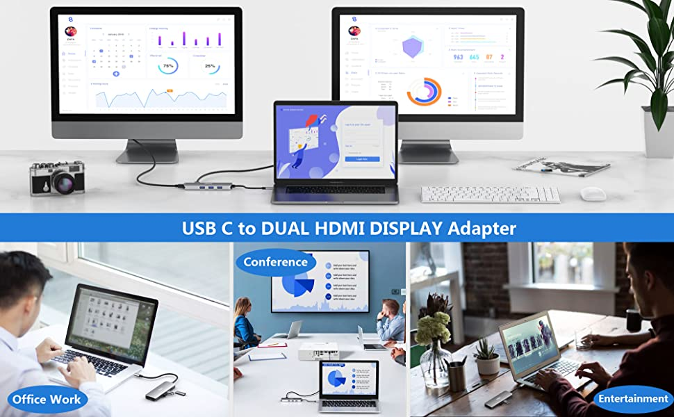 usbc to dual hdmi adapter for macbook pro air