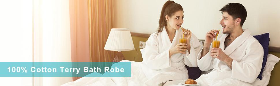 100% cotton terry bath robe