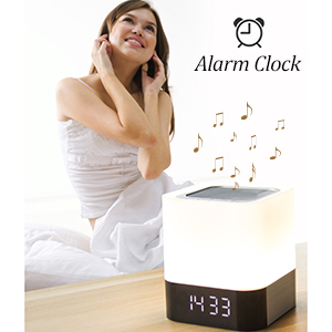 alarm clock bluetooth speaker night light