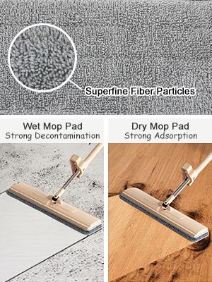 mop remplacement microfibre