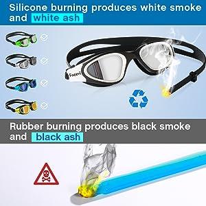 goggles adult swimming silicone headband