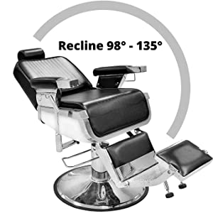 Lincoln Barber Chair Recline Degree